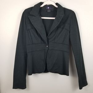 Vintage Morbid Threads Black Blazer Jacket